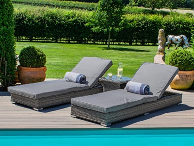 Product photograph showing Victoria Sunlounger Set