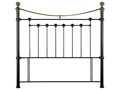 Julian Bowen Victoria 3 Single Black Metal Headboard