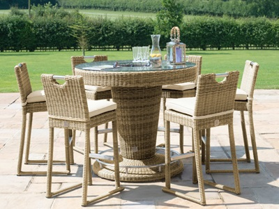 Product photograph showing Winchester 6 Seat Round Bar Set With Ice Bucket