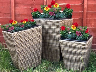 Product photograph showing Winchester Shaped Planter Set