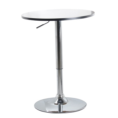 Product photograph showing Zen Bar Table White Top With Chrome Base