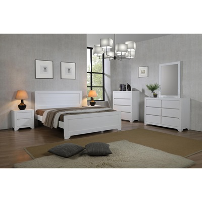 Product photograph showing Zircon Dresser 6 Drawer White