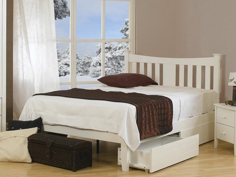 Sweet Dreams Kingfisher 3\' Single White Finish No Drawer Wooden Bed Image0 Image