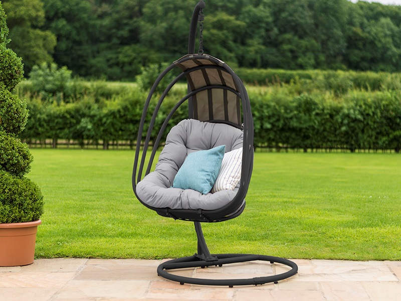 Maze Rattan Amalfi Hanging Chair Black Outdoor Chair Image0 Image