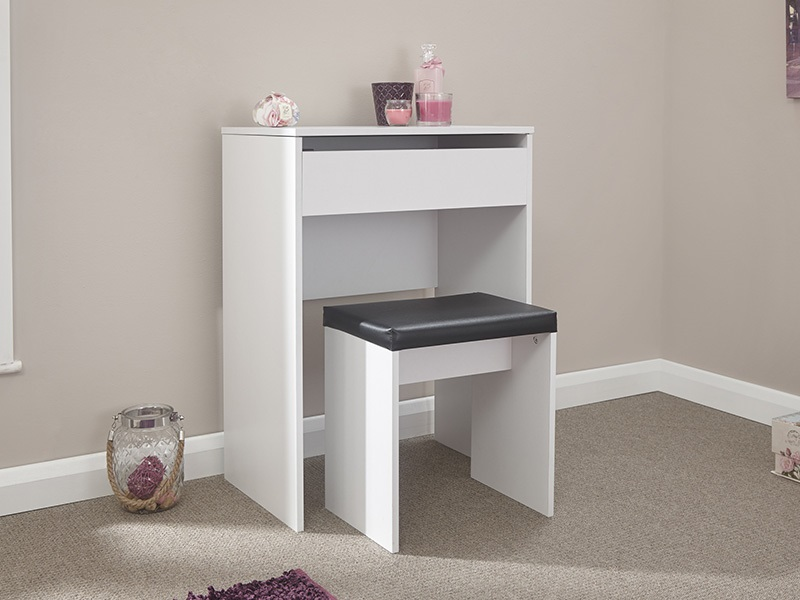 GFW Compact Dresser and Stool White Dressing Table Image0 Image