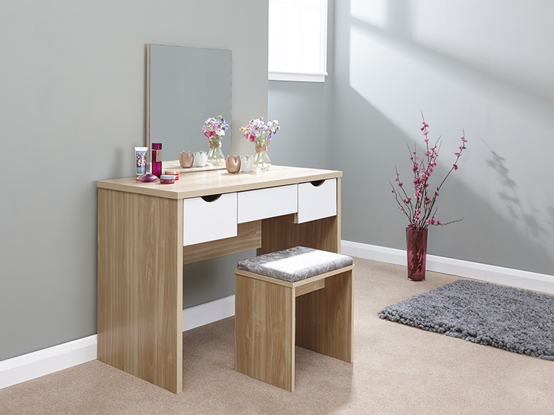GFW Elizabeth Dressing Table Set White Dressing Table Image0 Image