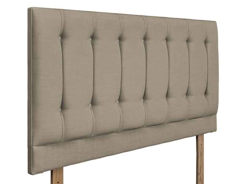 Swanglen Tamar 4\' 6 Double Muse Buff Fabric Headboard Image0 Image