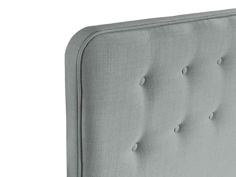 Swanglen Manhattan 4\' 6 Double Gem Slate Fabric Headboard Image0 Image