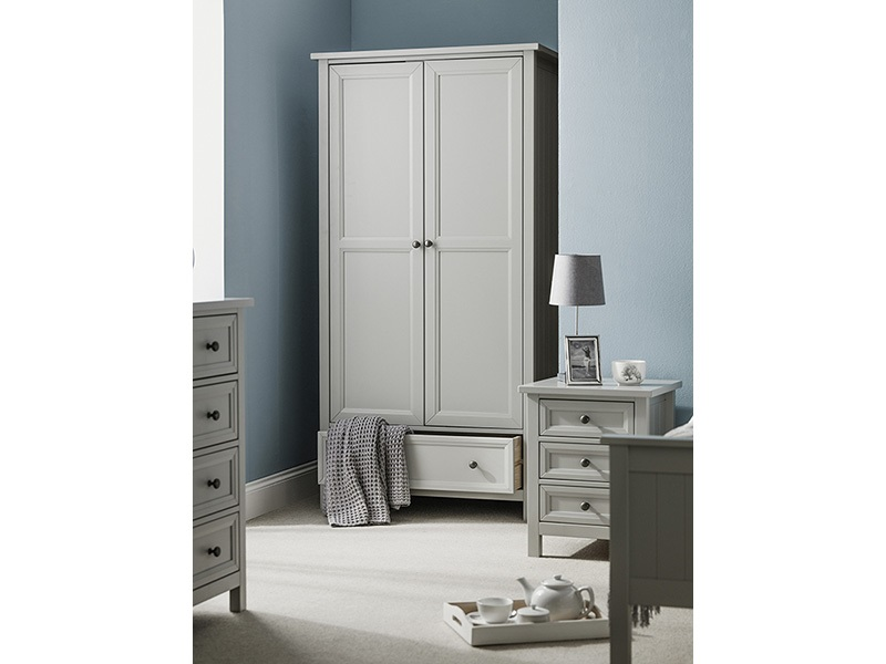 Julian Bowen Maine 2 Door Combination Wardrobe Dove Grey Wardrobe Image0 Image