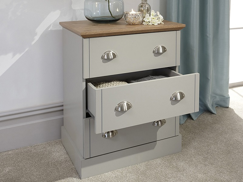 GFW Kendal 3 Drawer Chest Paint Grey Drawer Chest Image0 Image