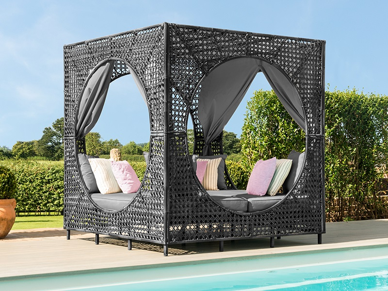 Maze Rattan Bali Daybed Grey Rattan Outdoor Daybed Image0 Image