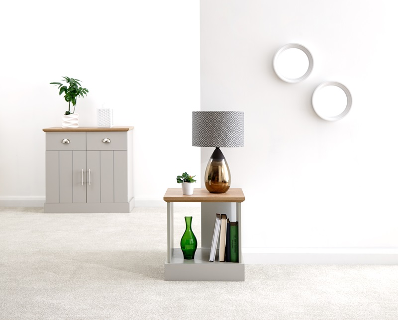 GFW Kendal Lamp Table Paint Grey Lamp Table Image0 Image