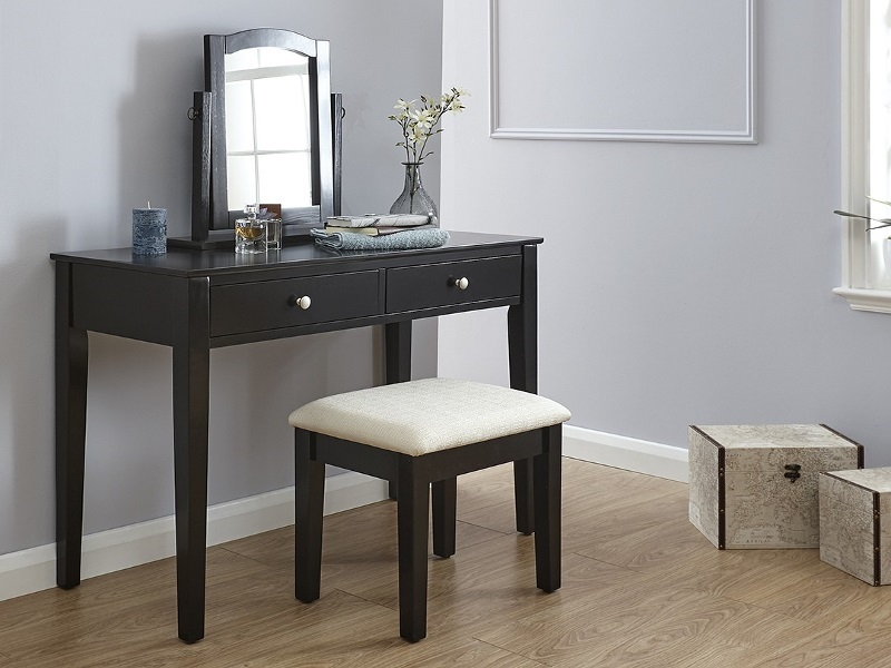 GFW Hattie Dressing Table Set Black Dressing Table Image0 Image