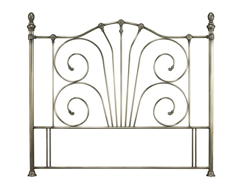 Serene Furnishings Jessica Brass 4\' Small Double Antique Brass Metal Headboard Image0 Image