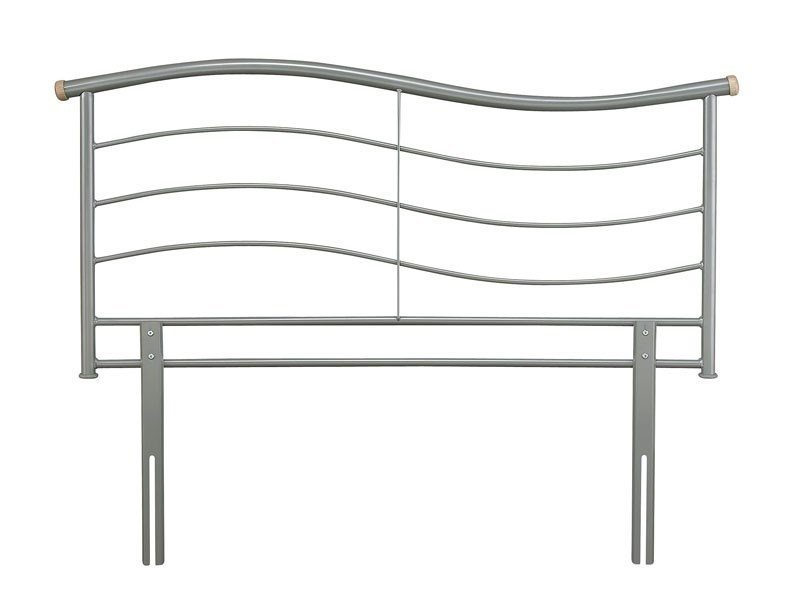 Serene Furnishings Waverly 4\' 6 Double Silver Metal Headboard Image0 Image