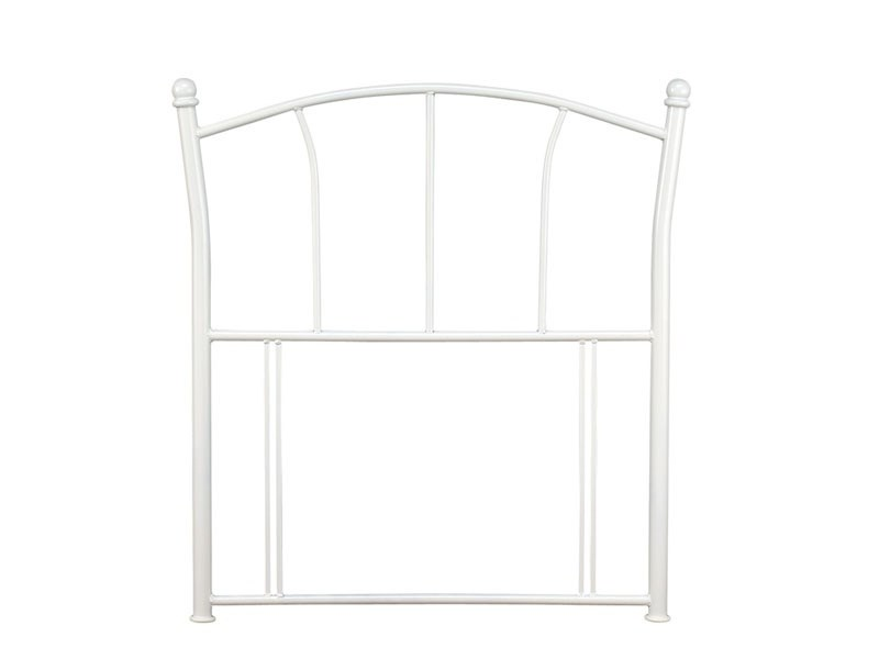 Serene Furnishings Penny White 3\' Single Metal Headboard Image0 Image