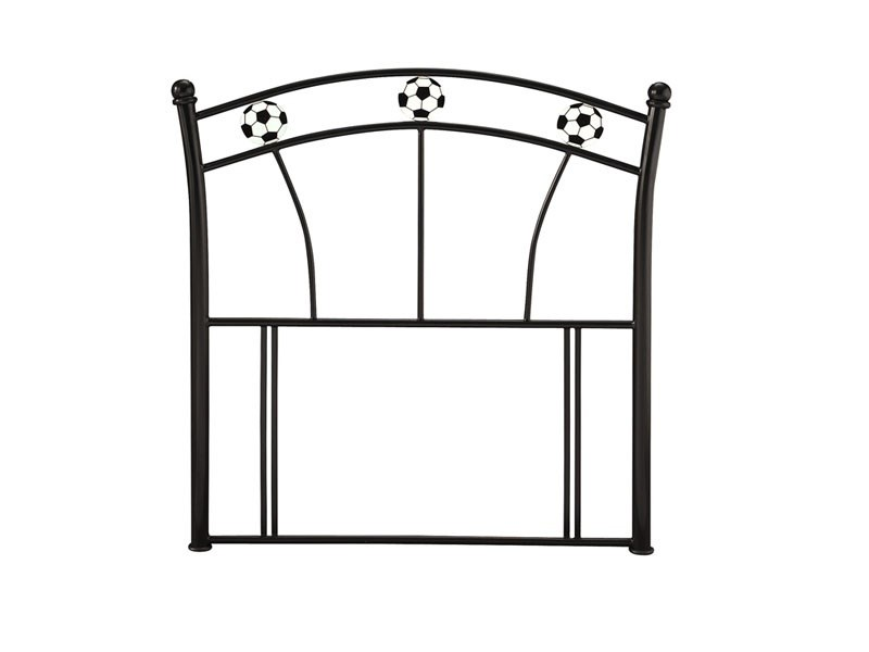 Serene Furnishings Soccer Black 3\' Single Glossy Black Metal Headboard Image0 Image