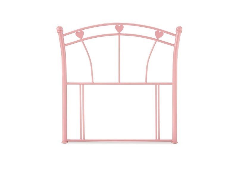 Serene Furnishings Jemima 3\' Single Glossy Pink Metal Headboard Image0 Image