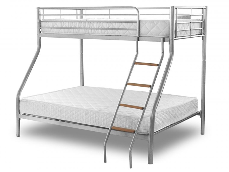 Snuggle Beds Alexa Triple Sleeper 4\' Small Double Bunk Bed Image0 Image