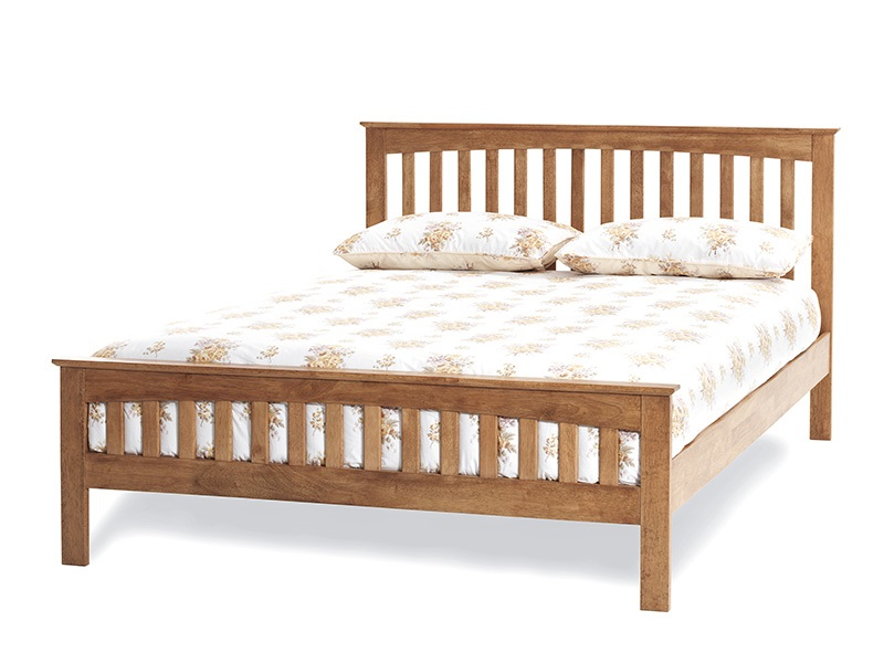 Serene Furnishings Amelia 3\' Single Honey Oak Wooden Bed Image0 Image