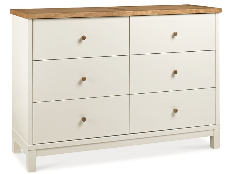 Bentley Designs Atlanta Two Tone 6 Drawer Wide Chest Drawer Chest Image0 Image