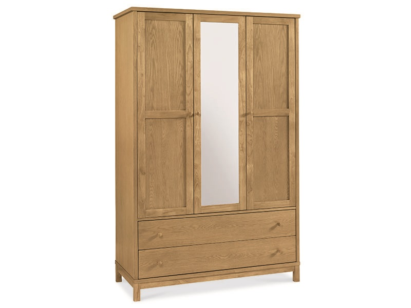 Atlanta Oak Triple Wardrobe Main Image