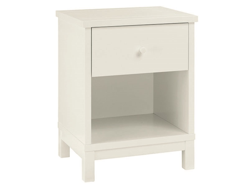 Atlanta White 1 Drawer Nightstand Main Image