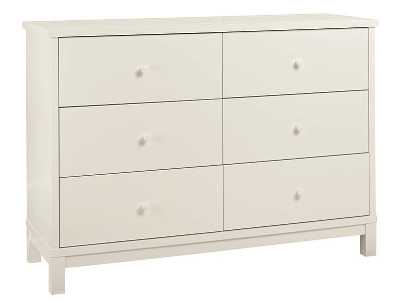 Atlanta White 6 Drawer Wide Chest Main Image