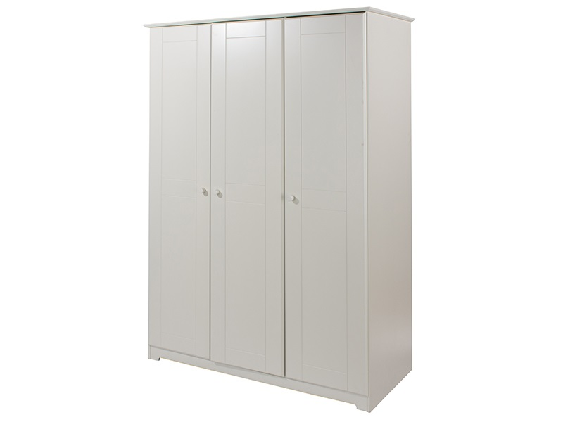 Banff White 3 Door Wardrobe Main Image