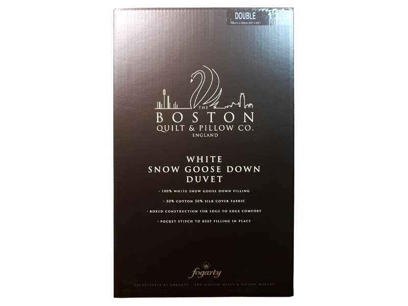 13.5 Tog White Snow Goose Down Duvet Main Image