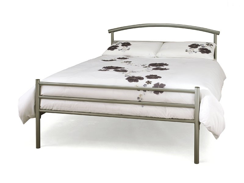 Serene Furnishings Brennington 2\' 6 Small Single Silver Metal Bed Image0 Image