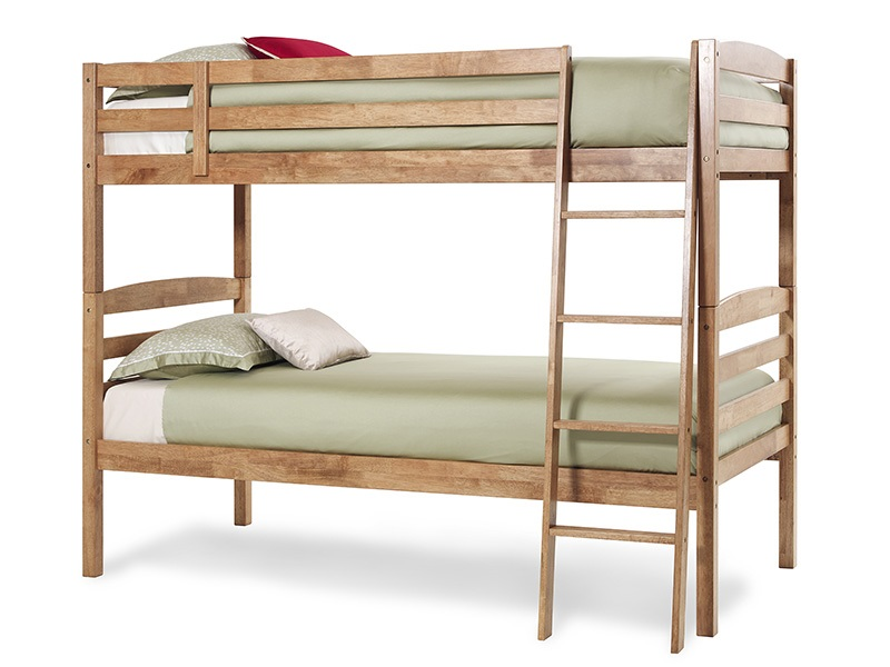 Serene Furnishings Brooke 3\' Single Honey Oak Bunk Bed Image0 Image