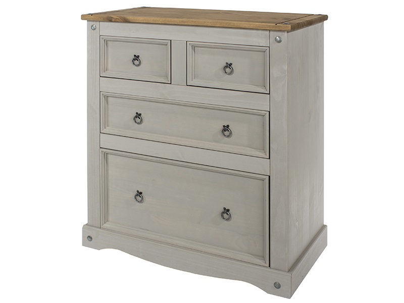 Brazil Grey 2+2 Drawer Chest Main Image