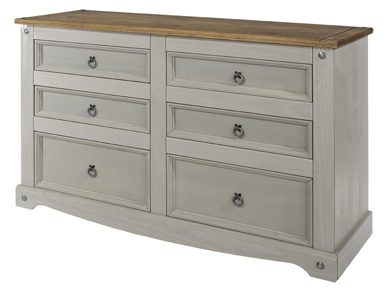 Brazil Grey 3+3 Drawer Wide Chest Image0 Image