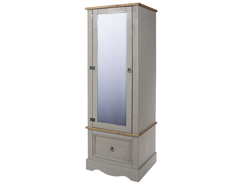 Brazil Grey Armoire With Mirrored Door Main Image