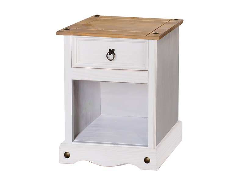 Furniture Express Brazil White 1 Drawer Bedside Cabinet Bedside Chest Image0 Image