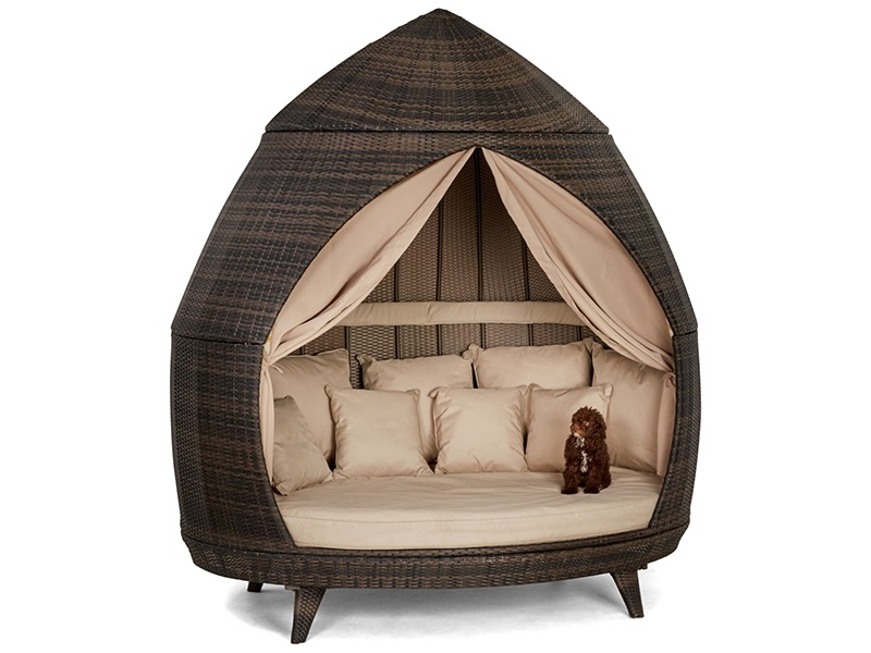 Maze Rattan Casbah Daybed Brown Rattan Outdoor Daybed Image0 Image