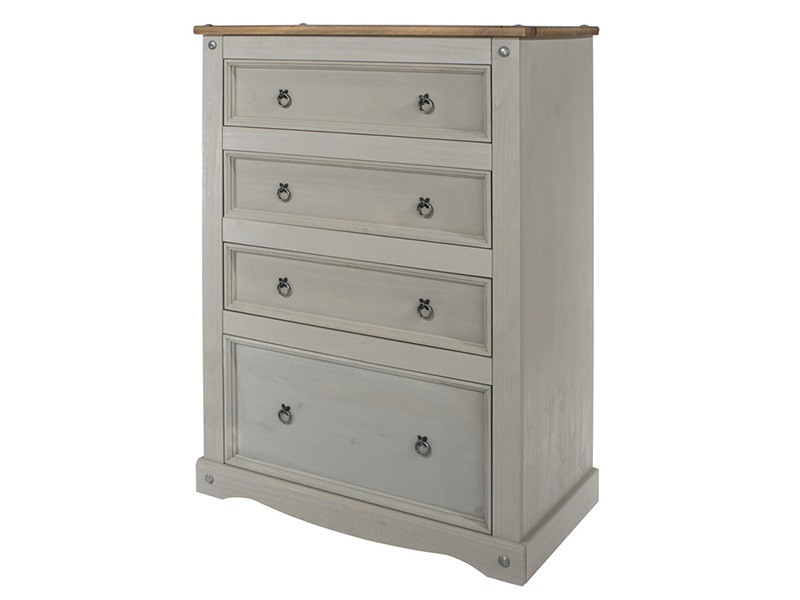 Brazil Grey 4 Drawer Chest Main Image