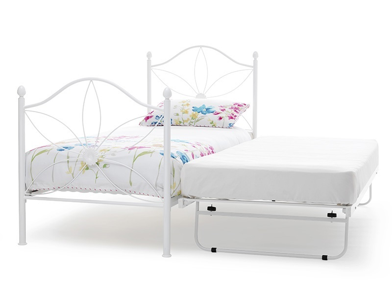 Serene Furnishings Daisy 3\' Single White Stowaway Bed Image0 Image