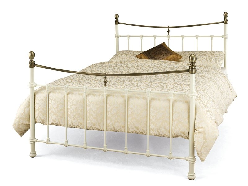 Serene Furnishings Edwardian II 3\' Single Black with Antique Bronze Metal Bed Image0 Image