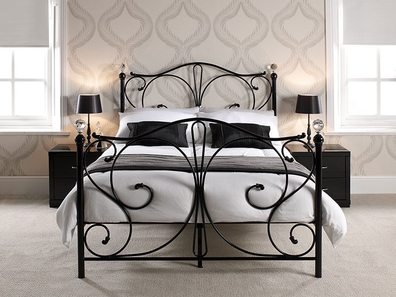 Furniture Express Florence Black 5\' King Size Metal Bed Image0 Image