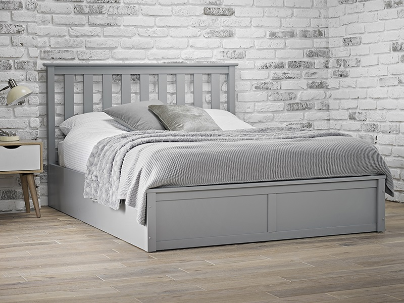 Furniture Express Oxford Grey Ottoman 4\' 6 Double Ottoman Bed Image0 Image