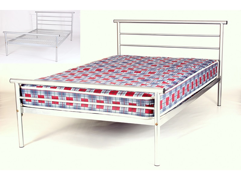 Snuggle Beds Hercules 4\' Small Double Metal Bed Image0 Image
