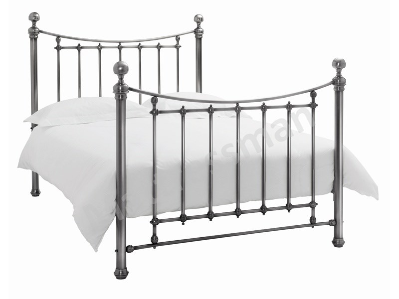 Bentley Designs Isabelle 4\' 6 Double Nickel Metal Bed Image0 Image
