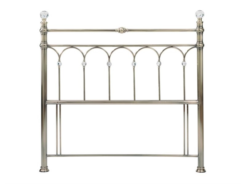 Bentley Designs Krystal Brass 4\' 6 Double Brass Metal Headboard Image0 Image