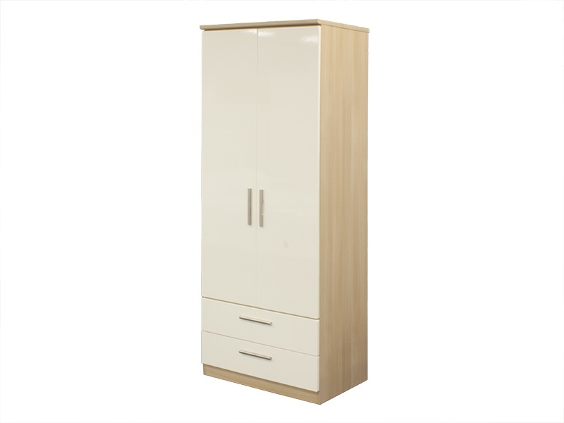 Knightsbridge Tall 2ft6in 2 Drawer Robe Main Image