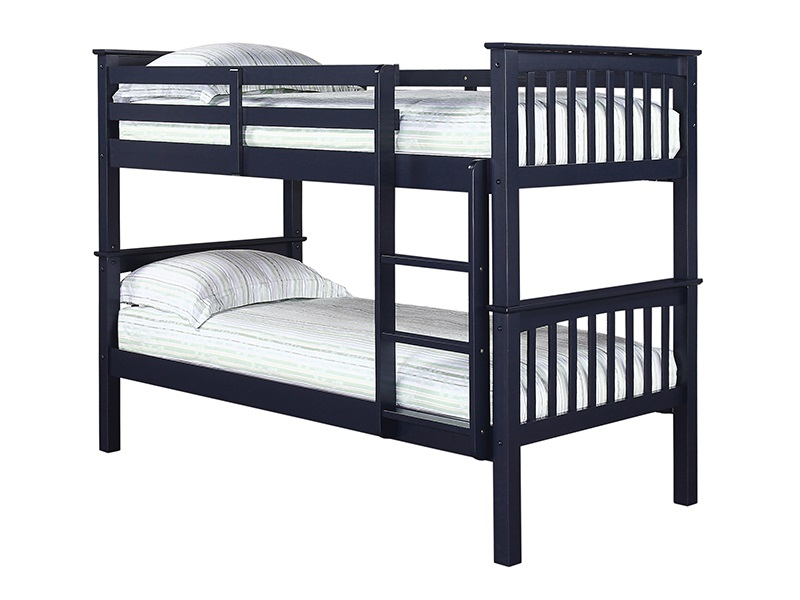 LPD Furniture Leo Bunk Navy Single Bunk Bed
