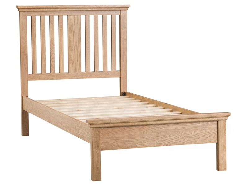 Sheringham Slatted Solid Oak Bed Frame Main Image