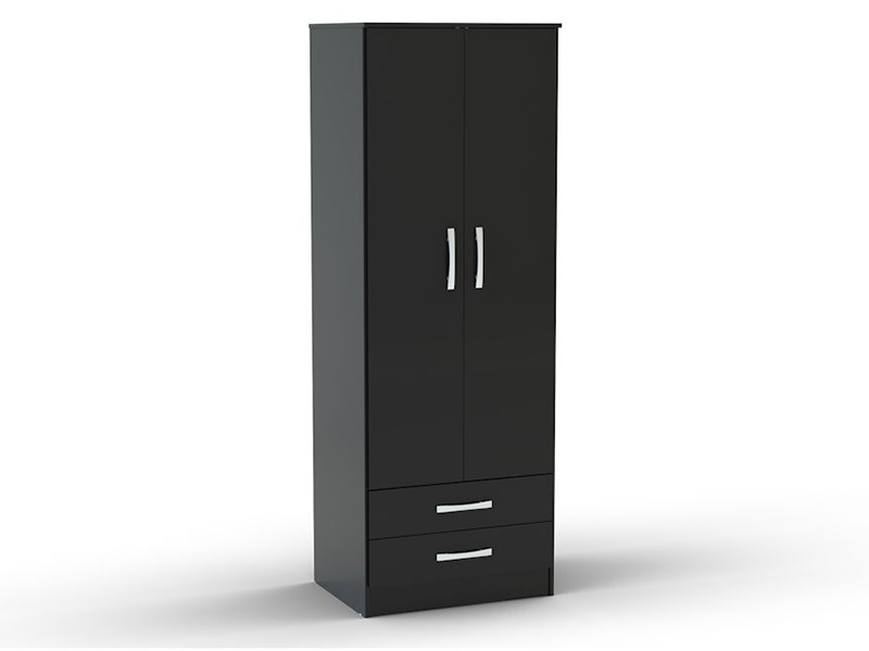 Lynx 2 Door Combination Wardrobe Black Main Image