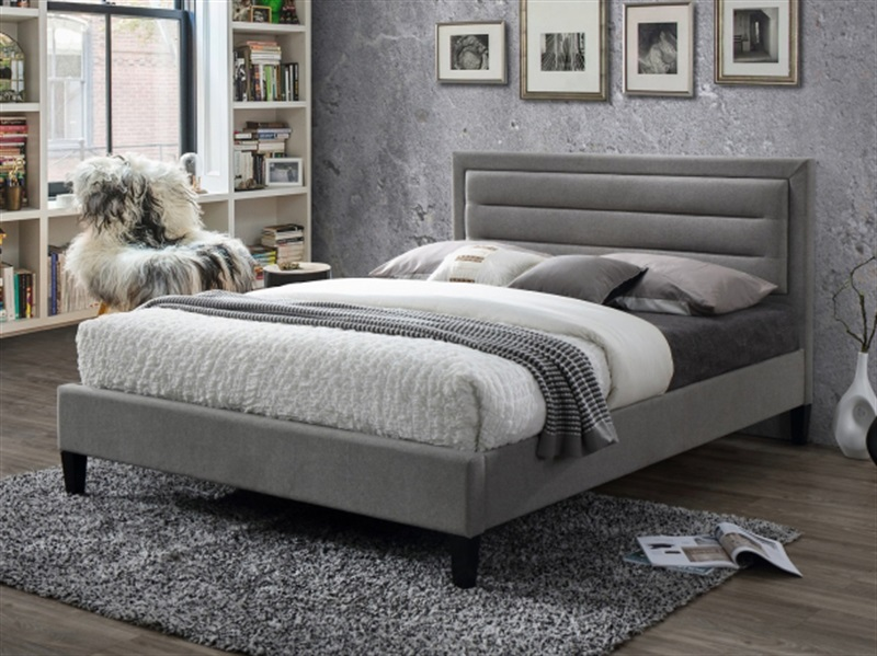 Limelight Picasso Grey 4\' Small Double Fabric Bed Image0 Image